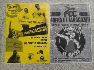 La manifestación partirá a las 19.00 horas desde la Glorieta Sasera de Zaragoza.