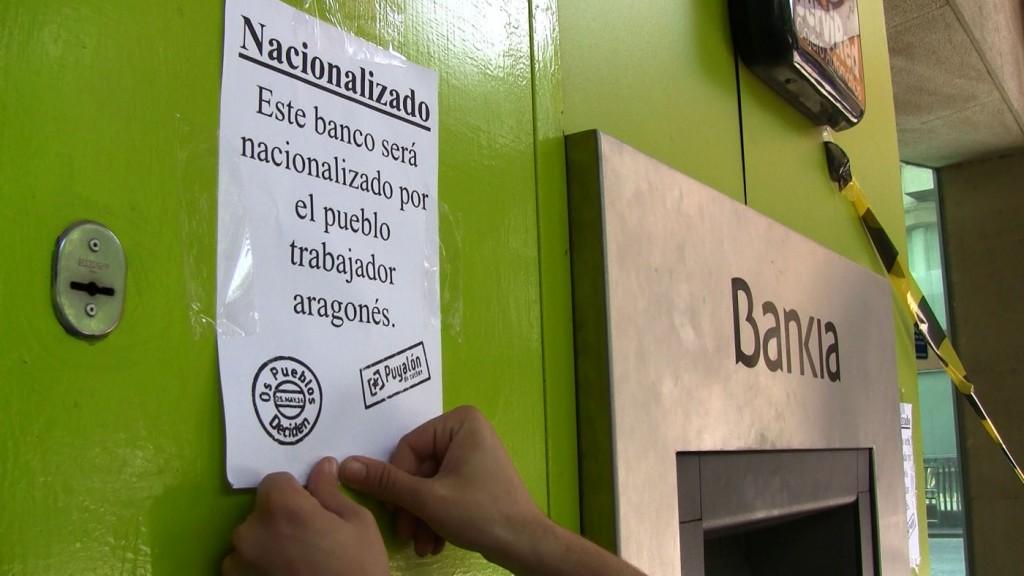 Puyalón-Os Pueblos Deciden propone la nacionalización de «bancos y cajas de ahorros rescatadas»