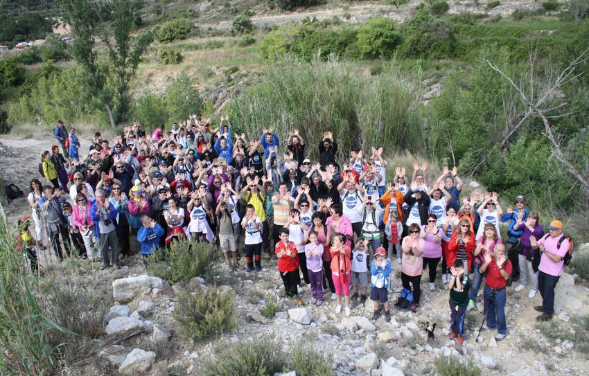Éxito de participación en la ruta guiada por la ribera del río Bergantes