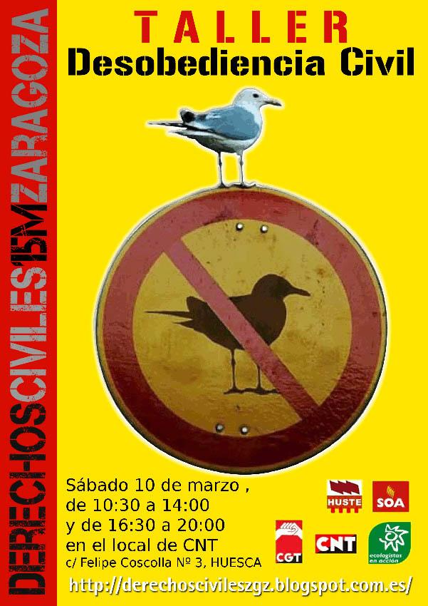 Programan un taller de desobediencia civil en Uesca