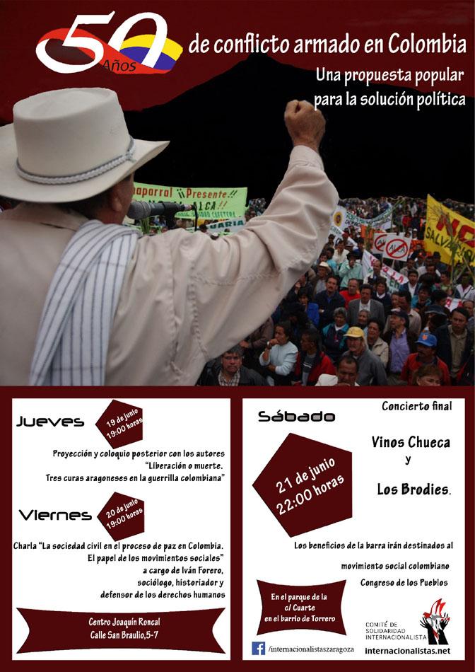 """El Comité Internacionalista invita a reflexionar sobre los """"50 años del conflicto armado en Colombia"""""""