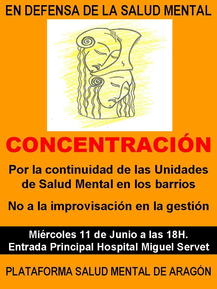 Convocada una nueva concentración en Zaragoza contra el desmantelamiento de las unidades de Salud Mental