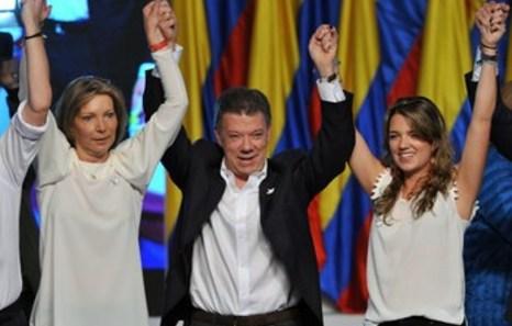 Colombia reelige a Juan Manuel Santos como su presidente