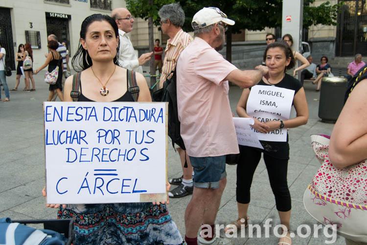 Zaragoza pide la libertad de Carlos y Carmen