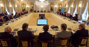 Reunión del patronato de la fundación en diciembre de 2012. Fundació Príncep de Girona