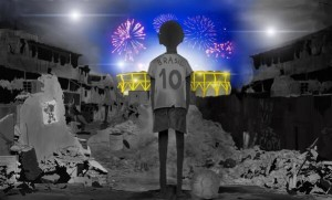 El Mundial de Brasil dibujado por Ivan Navarro, un niño brasileño de 17 años.