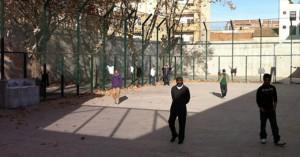 Patio interior del CIE Zapadores en Valencia.
