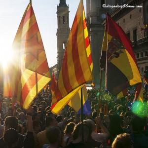 Manifestación de este lunes en Zaragoza. Foto: Diego Díaz (AraInfo)