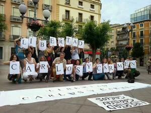 Concentraciones, canciones, poemas y teatro para pedir la libertad de Carmen y Carlos