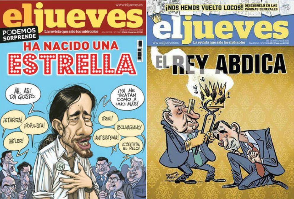Dimiten varios dibujantes de 'El Jueves' tras la retirada de la portada sobre el rey español
