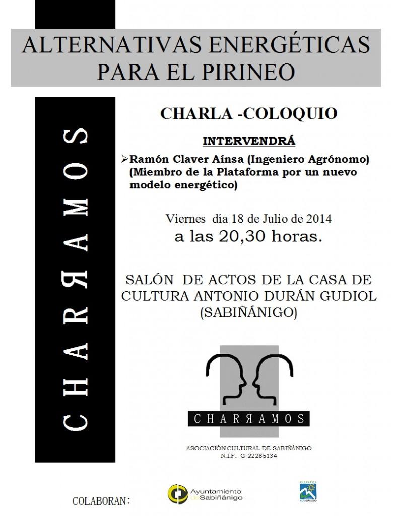 """La asociación """"Charramos"""" de Samianigo organiza la charla """"Alternativas energéticas para el Pirineo"""""""