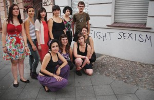 Activistes de la Xarxa Frederica Montseny a la presentació de Berlín Foto Roger Suso Direct
