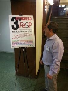 Agustín Yanel durante el Tercer Congreso de FeSP. Foto: FeSP