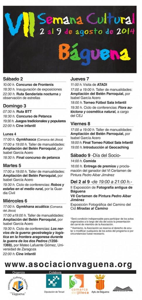 Báguena celebrará su VII Semana Cultural del 2 al 9 de agosto