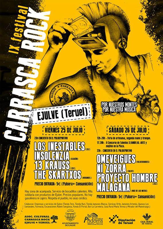 Exulv celebra la novena edición del Carrasca Rock los días 25 y 26 de julio