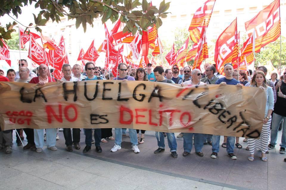 IU se suma a la campaña en defensa del derecho de huelga y contra la represión de sindicalistas