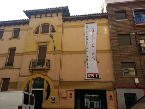CNT Zaragoza pancartaPadreManjon
