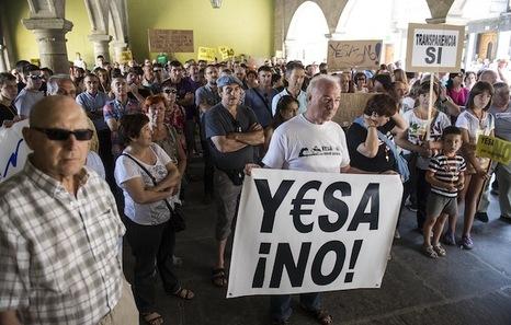 Zangoza vuelve a exigir que se pare el recrecimiento de Yesa
