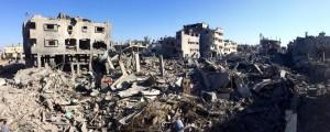 Barrios enteros de Gza devastados por las bombas de Israel. Foto: @nickschifrin