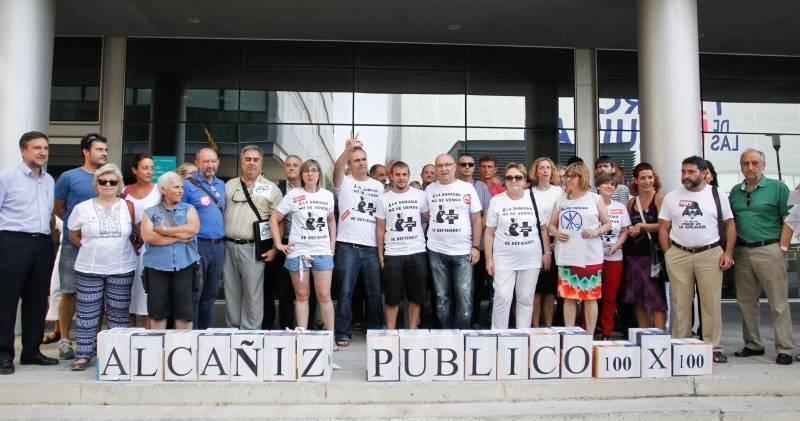 Marea Blanca convoca una concentración en Zaragoza contra la privatización del nuevo hospital de Alcanyiz