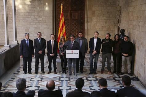Los partidos soberanistas reafirman su compromiso con el 9N