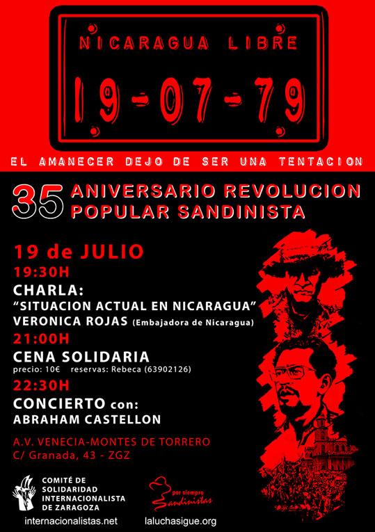 El Comité Internacionalista celebra el 35 Aniversario de la Revolución Popular Sandinista