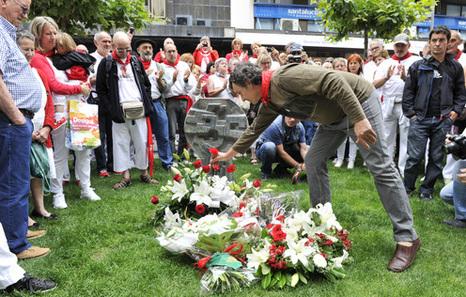 Paréntesis en la fiesta para recordar la muerte de Germán Rodríguez en los sanfermines de 1978