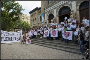 Imagen de una manifestación en defensa de Averly. Foto: Primo Romero