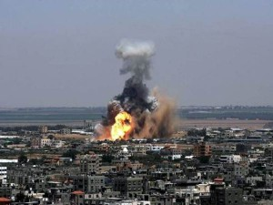 Bombas sobre Gaza.