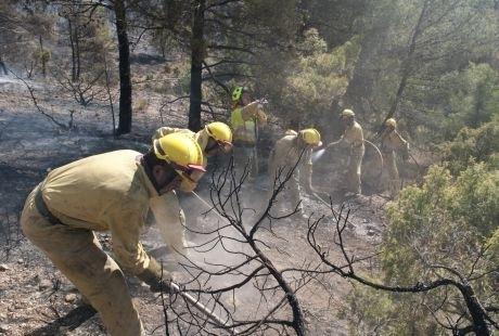 Bomberos Forestales se concentran contra los recortes