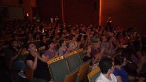 Imagen del estreno del documental en Zaragoza. Foto: @arainfonoticias