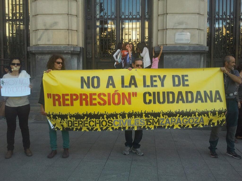 Protestas sociales frente a la imposición de la 'ley mordaza'