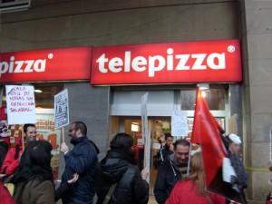 Imagen de archivo de una protesta de CGT en Telepizza. Foto: CGT Aragón