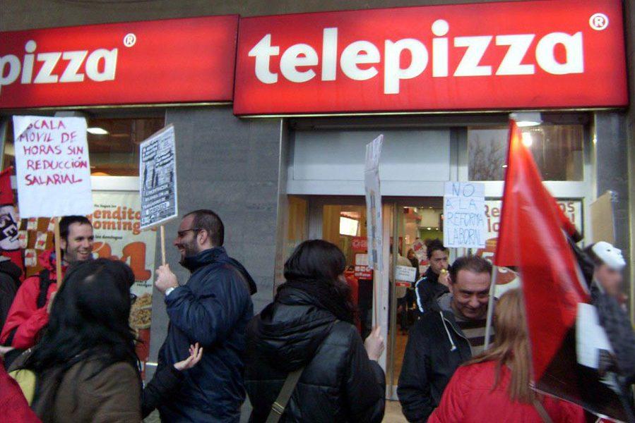 UGT y CGT convocan este viernes una jornada de huelga en Telepizza para reclamar la subida del salario mínimo