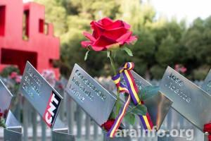 Homenaje a la víctimas del franquismo en el Cementerio de Torrero de Zaragoza. Foto: Pablo Ibañez (AraInfo)