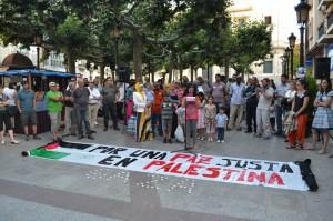 Concentración en Soria en apoyo al Pueblo palestino. Foto: Daniel Rodríguez (AraInfo/DisoPress)