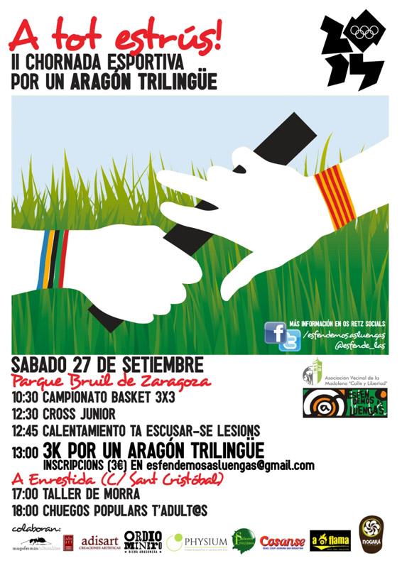 """Esfendemos as luengas organiza la segunda edición de su """"Jornada deportiva por un Aragón trilingüe"""""""