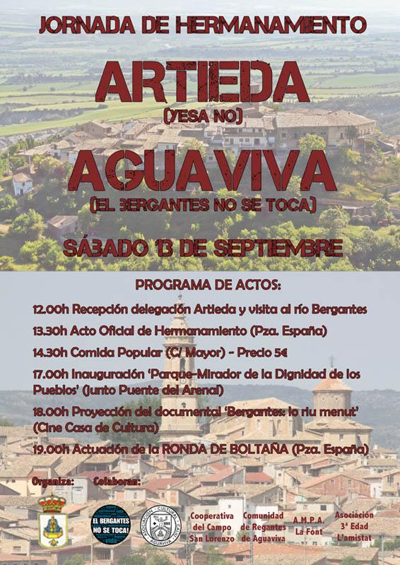 Aguaviva y Artieda celebran este sábado su hermanamiento en una intensa jornada