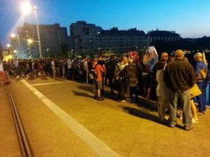 Imagen de la concentración en apoyo a la Ucrania Antifascista. Foto: CJC Aragón.
