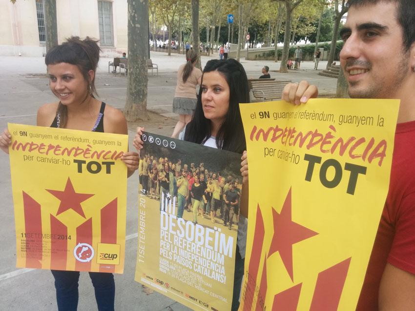 La CUP hace un llamamiento para que la Diada sea un clamor por el referéndum y la desobediencia
