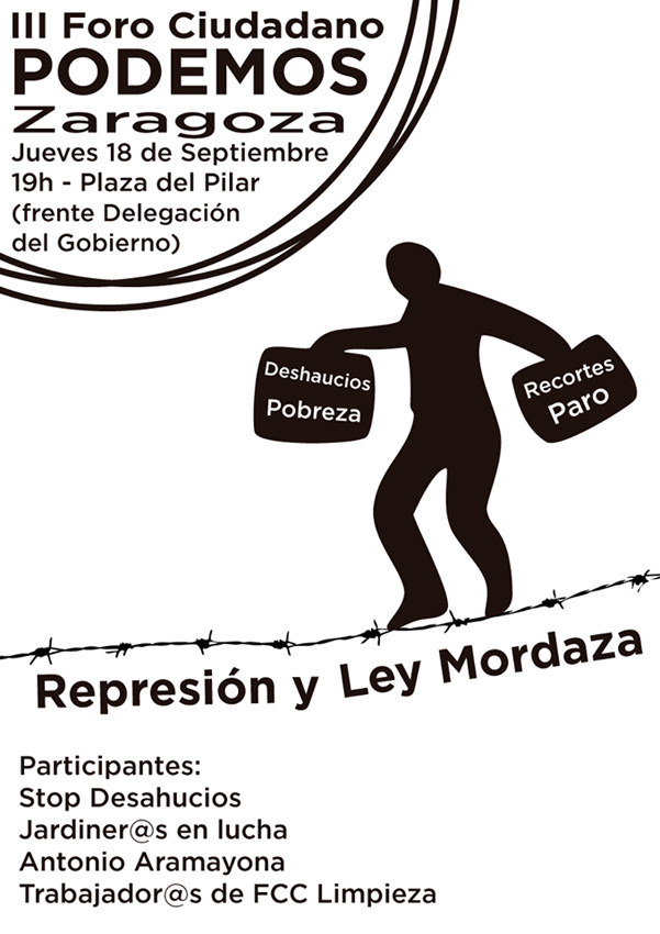 """Podemos organiza su III Foro Ciudadano dedicado a la """"represión y Ley Mordaza"""""""