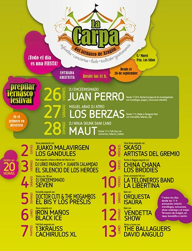 A Carpa d'o Ternasco presienta la suya programación t'os Pilars 2014