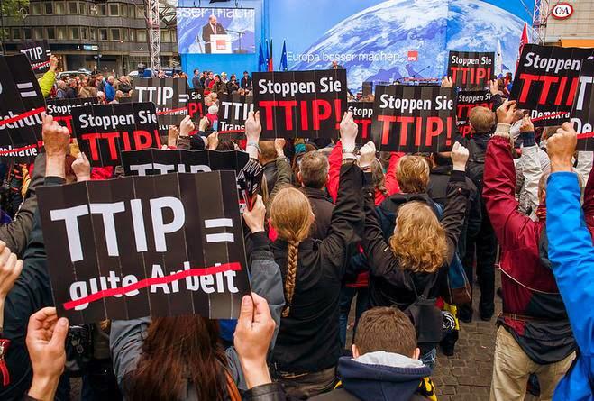 La presión popular clave para la paralización del TTIP