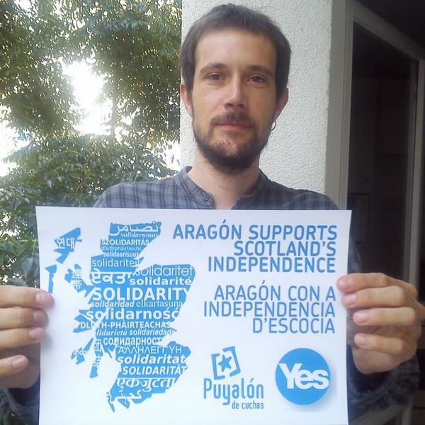 """Puyalón apoya el """"YES"""" en el referéndum de Escocia"""