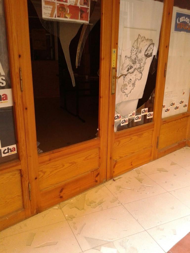 Atacan la sede de CHA en Andorra
