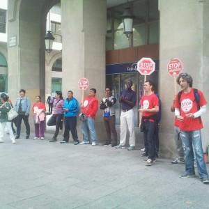 Imagen de la concentración de este lunes. Foto: @arainfonoticias