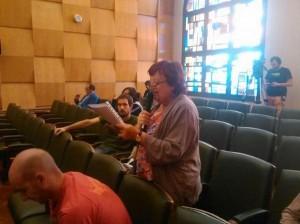 Asun Gulina durante su intervención en el Pleno. Foto: @Puyalon