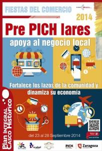 Cartel de las Fiestas del Comercio del Arrabal.