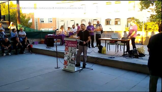 El Círculo Podemos Zaragoza realiza su vigésima asamblea con una gran participación ciudadana