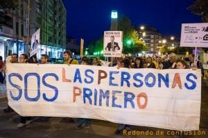 Manifestación en Uesca en defensa de la Sanidad Pública. Foto: Redondo de Confusión (Archivo)